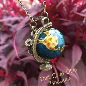 See the World Wanderlust Travel Globe Necklace